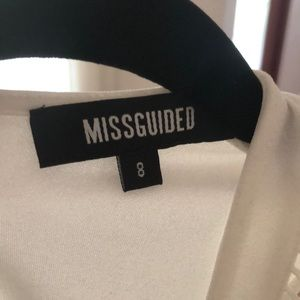 Misguided white straight dress